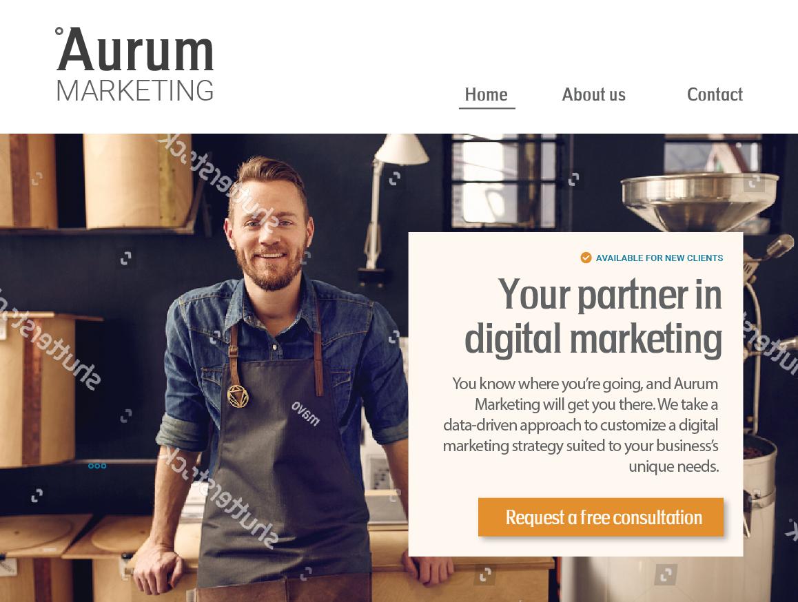 Aurum Marketing – Web Design