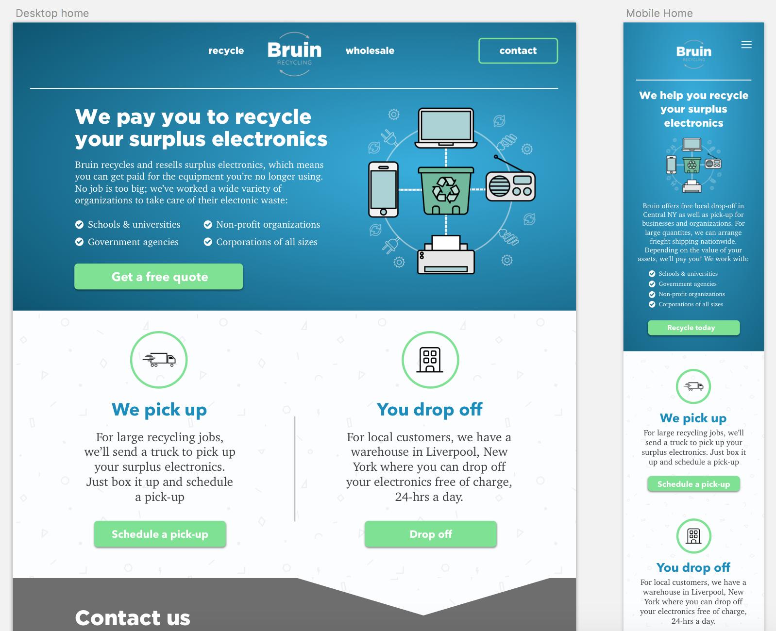 Bruin web page